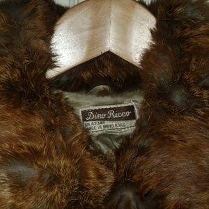 Donna Ricco Jackets & Coats - Vintage Genuine Rabbit Fur Coat Dino Rico